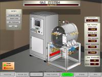 HMI Screen heat treat furnace